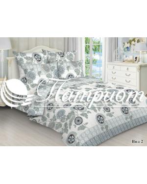 КПБ 2.0 спальный с Евро простыней, набивная бязь 125 гм2 1401