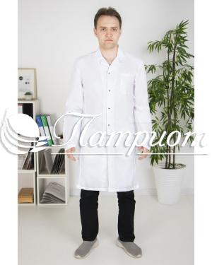 Халат медицинский мужской «Модельный» ткань ТИСИ Модель 4